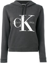 Calvin Klein Jeans logo hooded sweatshirt - women - Cotton - M