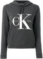 Calvin Klein Jeans logo hooded sweatshirt - women - Cotton - S