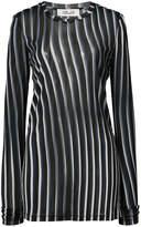 Dvf Diane Von Furstenberg sheer striped fitted pullover