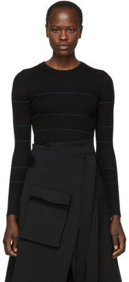 Proenza Schouler Black Silk and Cashmere Knit Sweater