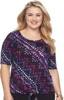 Dana Buchman Plus Size Tie-Front Top