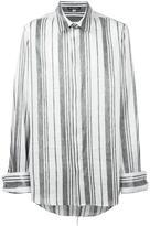 Ann Demeulemeester silver-tone stripes shirt - men - Ramie/Polyester - M