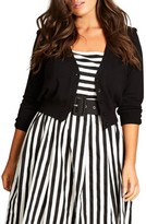 City Chic Plus Size Women's Cutie Pie Crop Cardigan