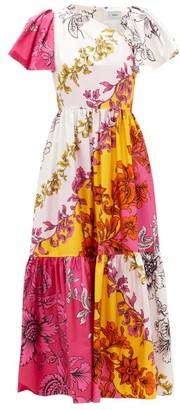 Erdem Palomina Modotti Wallpaper-print Cotton Dress - Womens - Pink Print