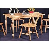 Coaster Home Furnishings Coaster Rectangular Butcher Block Farm Dining Table,Solid Wood Finish