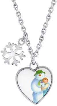 Rhona Sutton Snowman Snowflake and Heart Pendant Necklace