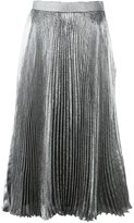Christopher Kane lamé pleated skirt - women - Silk/Polyester/Acetate - 38