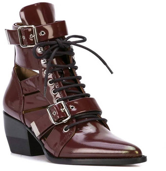 Chloé Red Rylee Ankle Boots