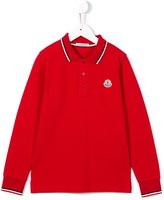 Moncler longsleeved polo shirt - kids - Cotton - 2 yrs