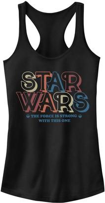 Disney Junior's Disney's Star Wars Bold Retro Logo 70s Racerback Tank