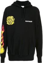 Readymade long sleeve flame print hoodie -Black