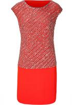 Collette Dinnigan Sunset Sequined Cap Sleeve Silk Dress