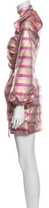 Paper London Striped Mini Dress w/ Tags Pink Striped Mini Dress w/ Tags