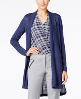 Alfani Petite Linen High-Low Cardigan, Only at Macy's