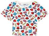 Moschino Alphabet and LoveHeart PrintT-Shirt