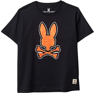 Psycho Bunny Kids Kendal Graphic Tee (Toddler/Little Kids/Big Kids) (Navy) Boy's Clothing