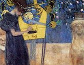 Gustav 1art1 Posters Klimt Poster Art Print - The Music 1895 (28 x 20 inches)