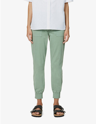 J Brand Arkin tapered mid-rise cotton-blend jogger