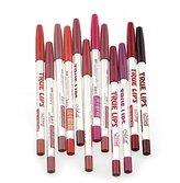 Lookatool 12pcs/Set Waterproof Lip Liner Pencil Long Lasting Lipliner Makeup Tools