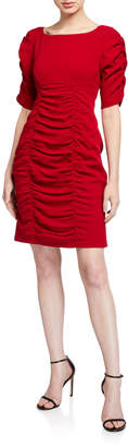 Nanette Lepore Ruched Elbow-Sleeve Sheath Dress