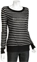 caviar and chalk striped cashmere 'Kenza' sweater