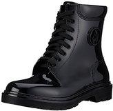 Armani Jeans Women's Jeans Rubber Lace up Rain Boot