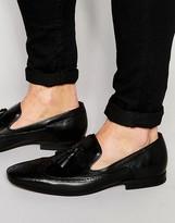 Hudson London Bodey Leather Tassel Loafers