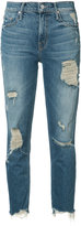 Mother ripped cropped jeans - women - Cotton/Spandex/Elastane - 27