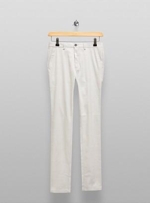 Topman BIG & TALL Light Grey Check Trousers