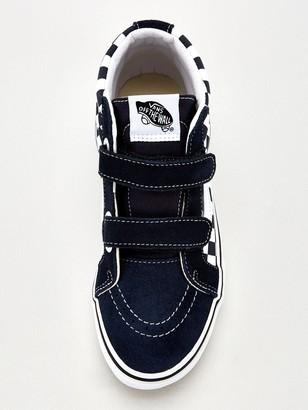 Vans Sk8-mid Checkerboard Junior Trainer - Blue/White