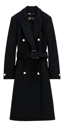 Zara Black Wool Coats