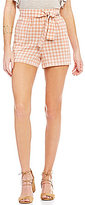 Copper Key Gingham Tie-Front Shorts