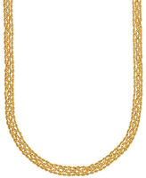 Lord & Taylor 14K Yellow Gold Popcorn & Rope Chain Necklace