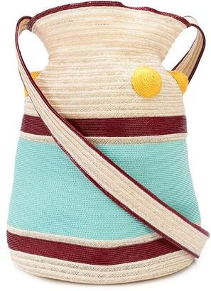 Rosie Assoulin Block Colour Woven Shoulder Bag