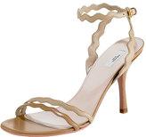 Wavy Ankle-Wrap Sandal