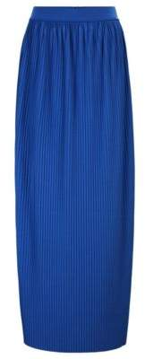 BOSS Jersey maxi skirt with mini plisse pleats