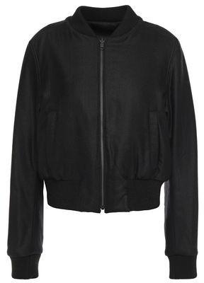 Ann Demeulemeester Reversible Brushed Wool-blend Twill Bomber Jacket