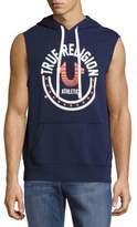 True Religion Logo-Print Sleeveless Hoodie