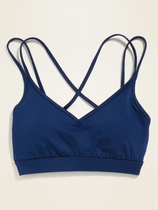Old Navy Light Support Strappy Sports Bra for Women