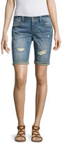 Arizona 9 Denim Bermuda Shorts-Juniors