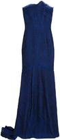 Roland Mouret Turret Strapless Cloqué Gown - Blue