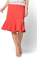 New York & Co. 7th Avenue - Flounce Pencil Skirt - Red