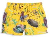 Vilebrequin Little Boy's & Boy's Moon Fish-Print Swim Trunks