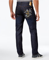 Sean John Sean Jean Men's Tiger Embroidered Mercer Slim-Straight Jeans, Only at Macy's