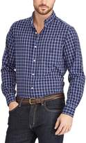 Chaps Big & Tall Classic-Fit Plaid Button-Down Shirt