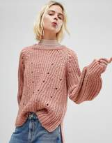 Pieces Chunky Ribbed Sweater