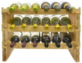 Sorbus 3-Tier Stackable Bamboo Wine Rack