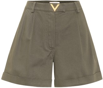 Valentino High-rise cotton shorts