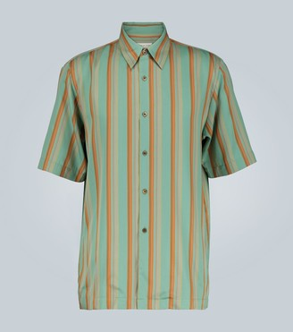 Dries Van Noten Striped short-sleeved shirt