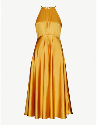 Samsoe & Samsoe Rhea satin midi dress